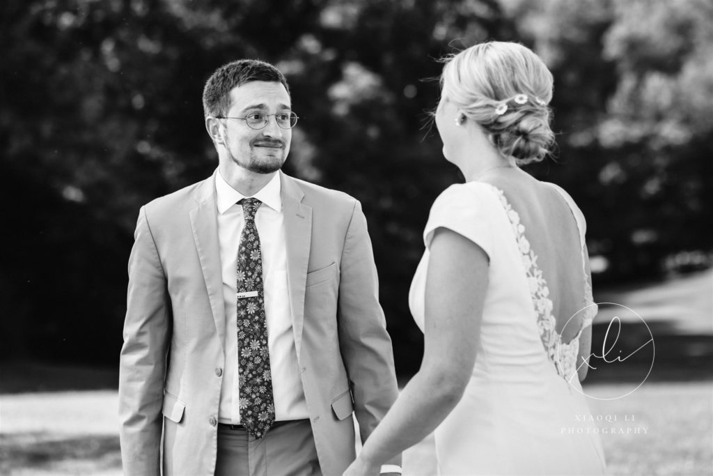 Couple seeing one another for first time on wedding day at Montfair Resort